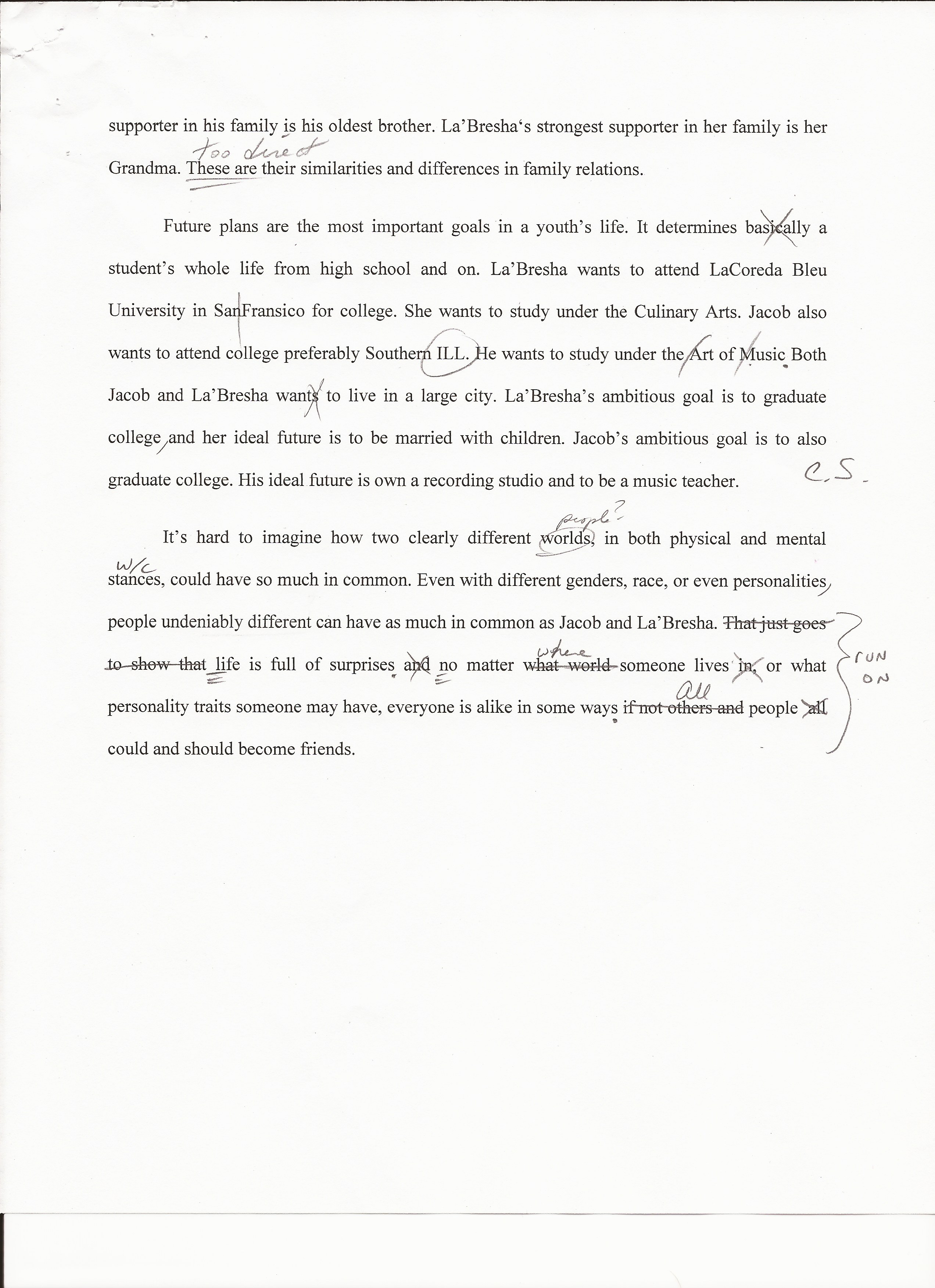 impact on student learning hannah schnettgoecke portfolio second essay page one and two